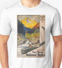 Vintage Travel Poster – Visit Your Far West National Parks	 T-Shirt