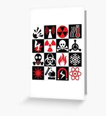 Hazard Danger Icons Greeting Card