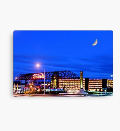 Moon over Sands Canvas Print