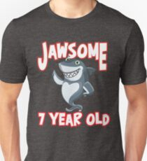 Jaw-some 7 Year Old - Seventh Birthday Design T-Shirt