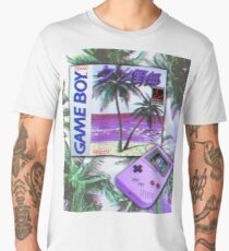 Gameboy Retrowave Men's Premium T-Shirt