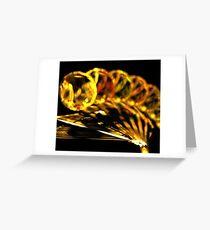 Amber Sun Fan Greeting Card
