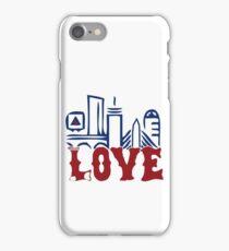 Love Boston Red Sox - Boston Skyline iPhone Case/Skin