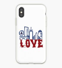 Love Boston Red Sox - Boston Skyline iPhone Case