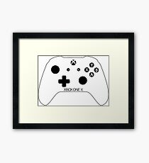 Xbox One X Controller Framed Print