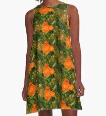 Louisbourg Orange A-Line Dress