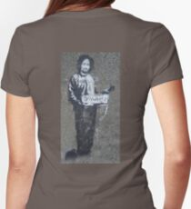 BANKSY, Graffiti Artist, Street Artist, Stencil of Charles Manson in a prison suit, hitchhiking to anywhere, Archway, London T-Shirt
