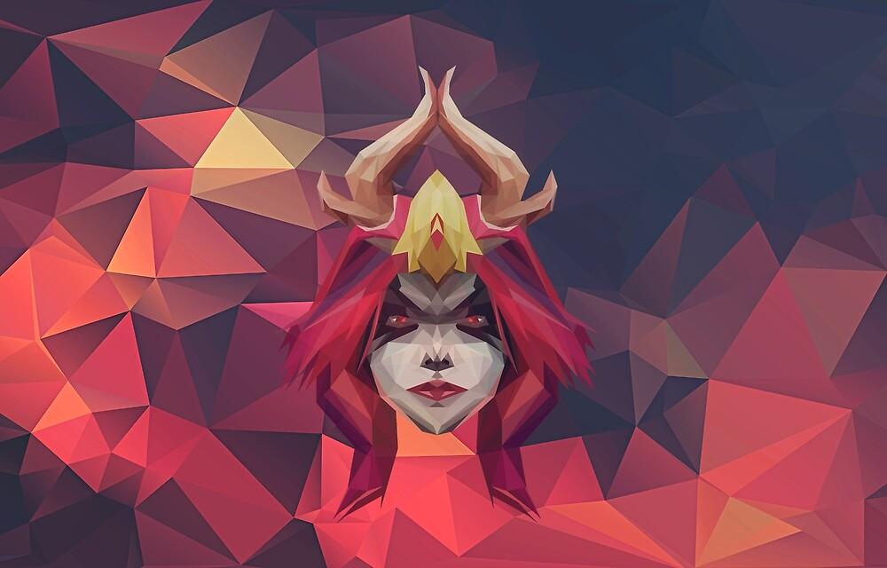 Queen of Pain Low Poly Art by giftmones