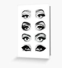 She got Haus of Gaga Eyes  Greeting Card