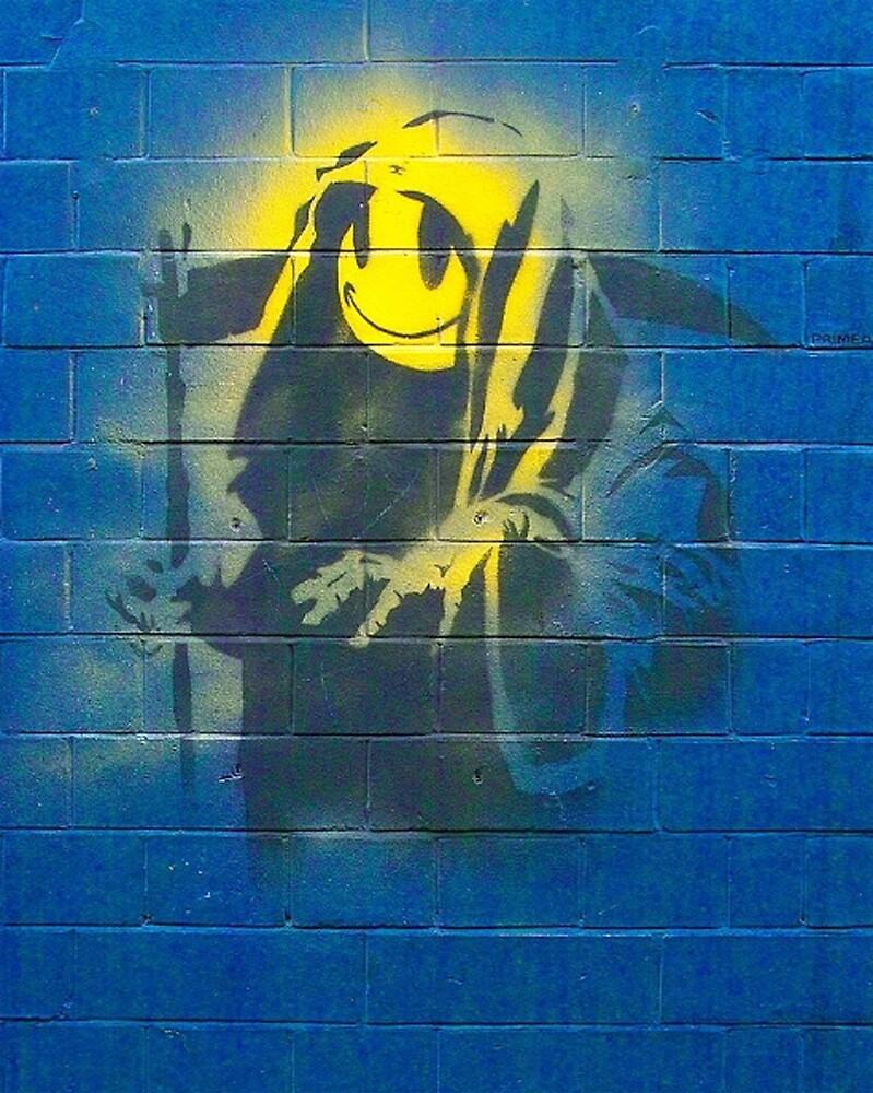 BANKSY, Graffiti Artist, Street Artist, Grin Reaper by TOM HILL - Designer