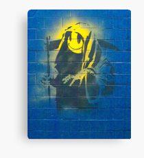 BANKSY, Graffiti Artist, Street Artist, Grin Reaper Canvas Print