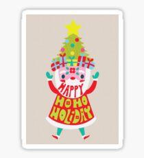 Happy Ho Ho Holiday Sticker