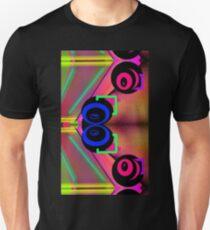 Neon alien sci fi vortex swirls abstract weird design  T-Shirt