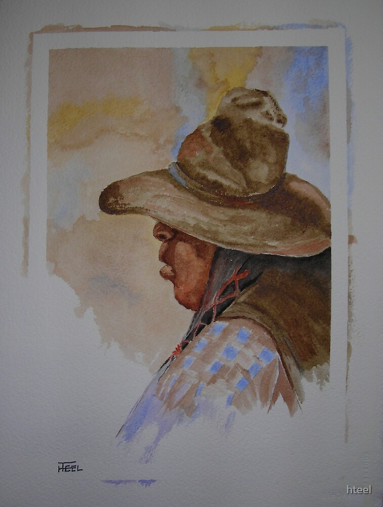 Native American Cowboy by hteel