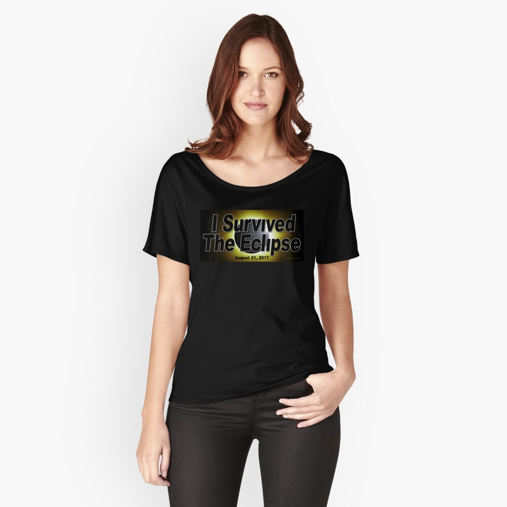 I Survived the Eclipse Women's Relaxed Fit T-Shirt Front
