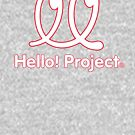 Hello Project Old School Logo - White/Red by FoniMoni