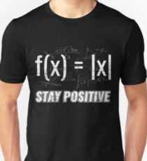 Funny Functions > Stay Positive > Math Equations Slim Fit T-Shirt