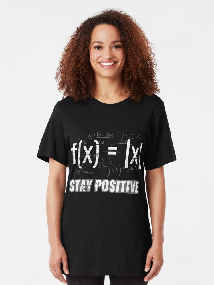 Alternative Ansicht von Funny Functions > Stay Positive > Math Equations Slim Fit T-Shirt