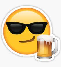 Beer & Shades Secret Emoji | funny internet meme Sticker