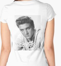 ELVIS, PRESLEY, Portrait, signature Women's Fitted Scoop T-Shirt