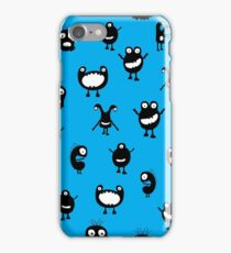 Funny doodle monsters picture iPhone Case/Skin