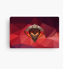 Chaos Knight Low Poly Art Canvas Print