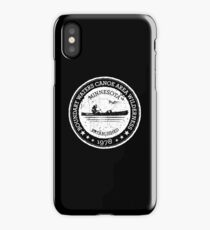 Boundary Waters Vintage Style Stamp - White iPhone Case/Skin
