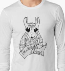 The invisible Llama Langarmshirt