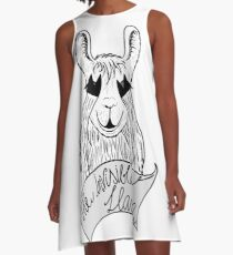 The invisible Llama A-Line Dress