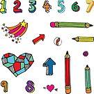 Back to School - fun pattern by Cecca Designs by Cecca-Designs