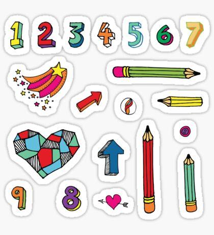 Back to School - fun pattern by Cecca Designs Sticker