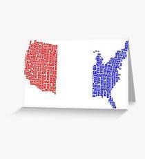 USA Flag Country Greeting Card