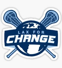 Lax for Change Logo Sticker Sticker