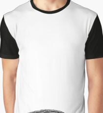 Black and White Turtle Graphic T-Shirt