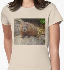 Groundhog Looking Down Women's Fitted T-Shirt