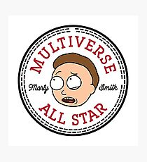 Multiverse All Star Morty Photographic Print