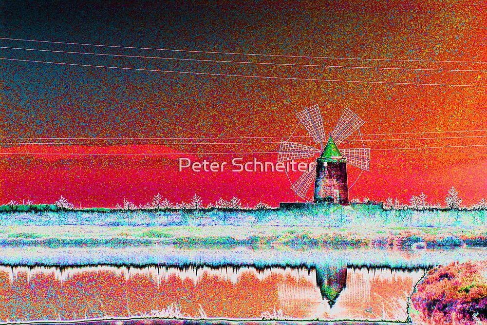 Sicilian Windmill by Peter Schneiter