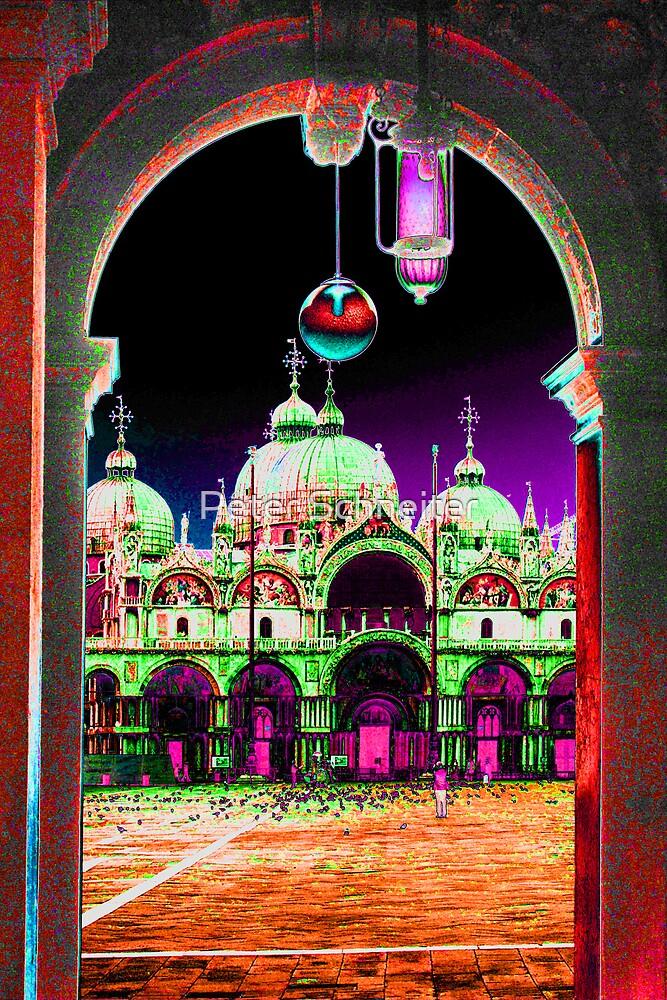 Saint Marks Basillica,  Venice,  Italy. by Peter Schneiter