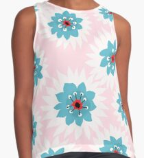 White Fluff Floral Contrast Tank