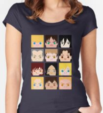 SnK BoxFace 2 Women's Fitted Scoop T-Shirt