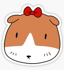 Bow Guinea Pig Face Sticker
