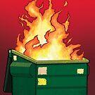 Müllcontainer Feuer von Diane LeonardArt