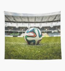 Soccer Stadium And Ball Wall Tapestry