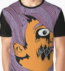 Scared Doll Face  Graphic T-Shirt