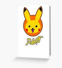Overwatch- Dva Pikachu  Greeting Card