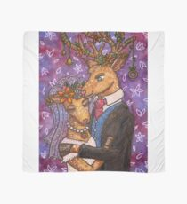 Deer Wedding Bride Groom Couple Scarf