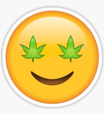 Happy Pot Secret Emoji | funny internet meme Sticker