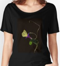 Cloudless Sulphur Butterfly And Morning Glory Women's Relaxed Fit T-Shirt