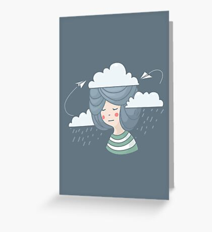 Women's thoughts Greeting Card