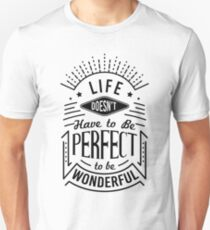 Life Quote Typography T-Shirt